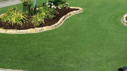 Lawn with garden